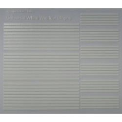 Universal white window stripes
