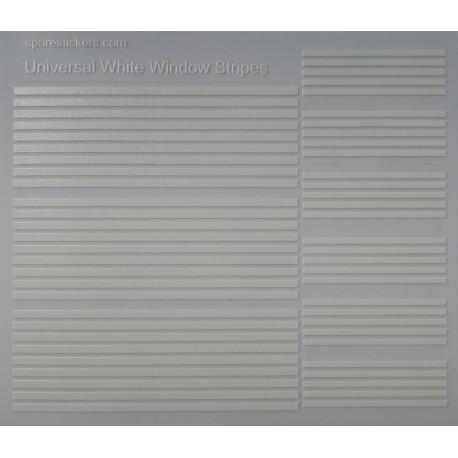 Universal white window stripes