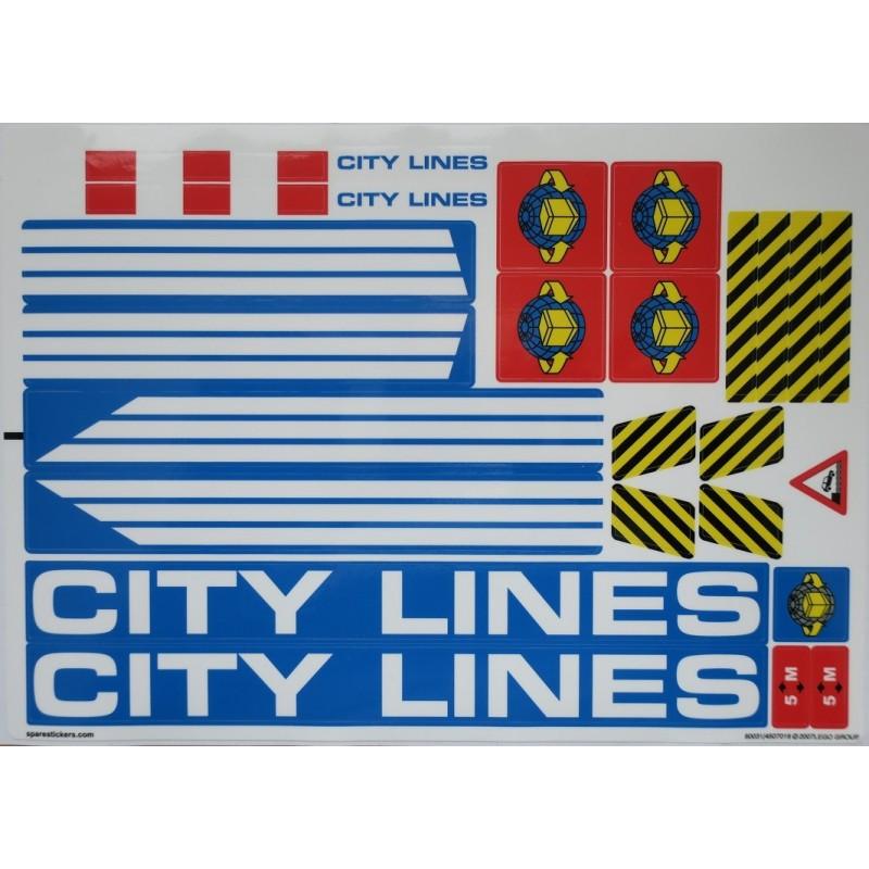 LEGO City Harbor Lego® Custom Pre-Cut Sticker for City Harbor set 7994 2007