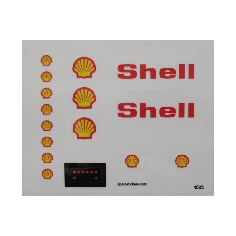 1978 Ersatz Aufkleber//Sticker für LEGO Modell 377 Town Shell Service Station