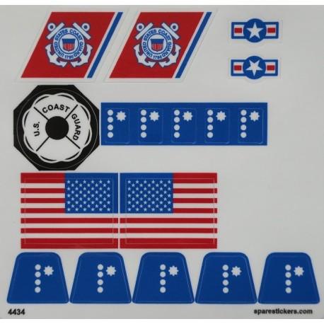 Precut Custom Replacement Stickers for Lego Set 575 Coastguard Station 1978
