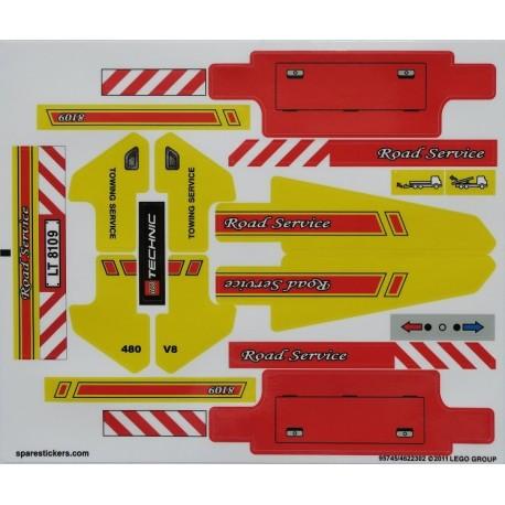 lego sticker 8109